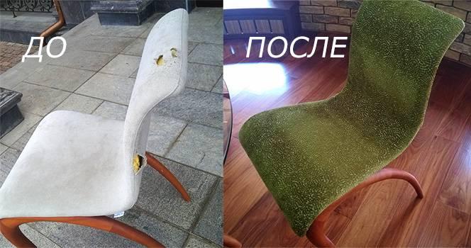 Пример работы: перетяжка стула