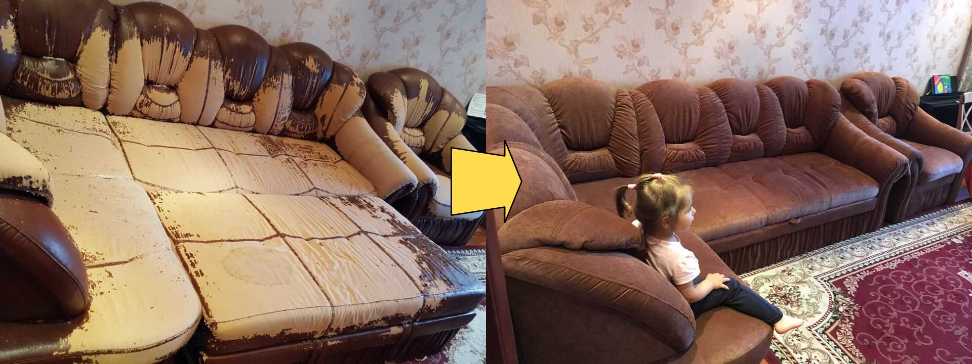 Перетяжка дивана своими руками 27