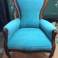 пример перетяжки кресла